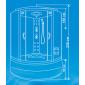 Душевая кабина ВМ-8850(130*130)